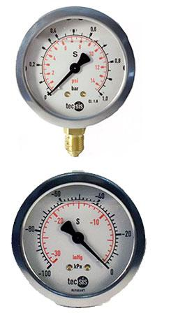 P1454 & P1453 Stainless Steel Pressure Gauges by Tecsis from GTS